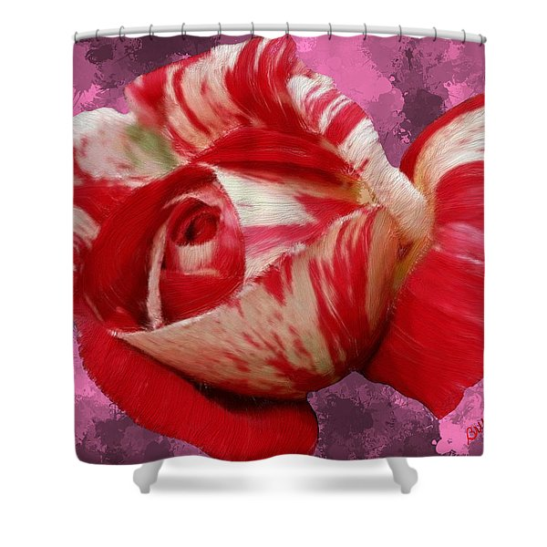 Valentine's Day Rose Shower Curtain by Bruce Nutting
