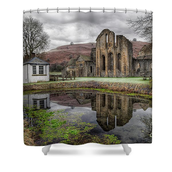 Valle Crucis Abbey Shower Curtain by Adrian Evans