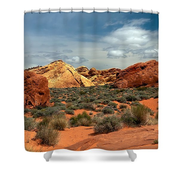 Valley Of Fire Shower Curtain by Robert Bales