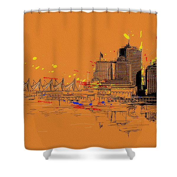 Vancouver Art 006 Shower Curtain by Catf
