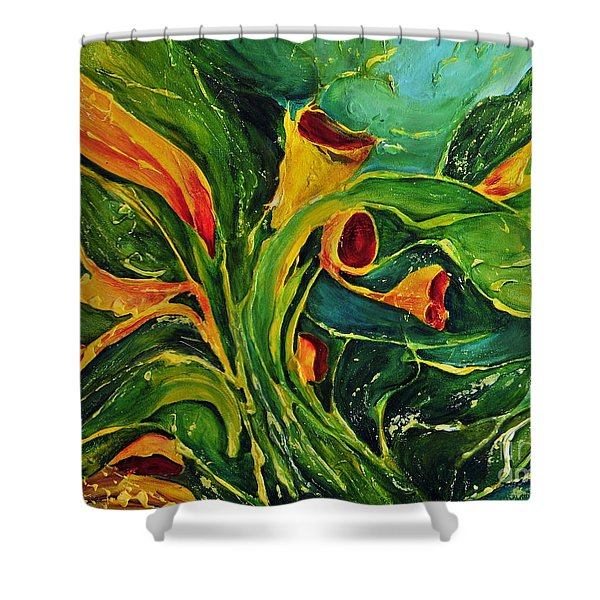 Variation  No.2 Shower Curtain by Teresa Wegrzyn