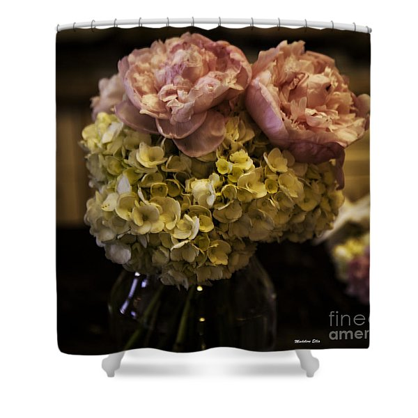 Vase of Flowers Shower Curtain by Madeline Ellis