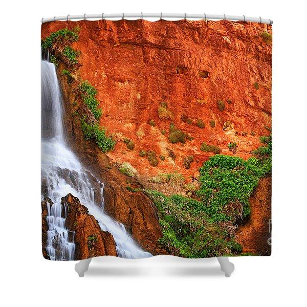 Vaseys Paradise Twin Falls Shower Curtain by Inge Johnsson