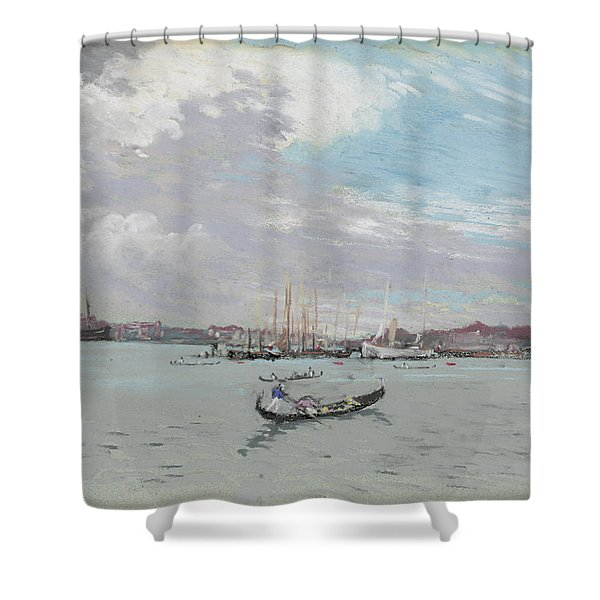 Vast Lagoon Outside Venice Circa 1901 Shower Curtain by Aged Pixel