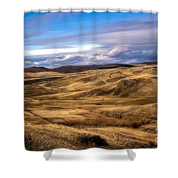 Vast View of the Rolling Hills Shower Curtain by Robert Bales