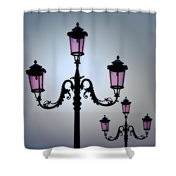Venetian Lamps Shower Curtain by Dave Bowman