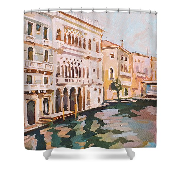 Venetian Palaces Shower Curtain by Filip Mihail