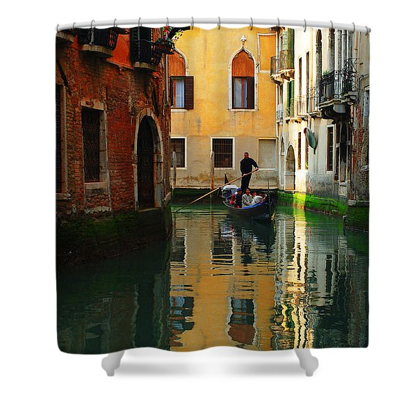Venice Reflections Shower Curtain by Bob Christopher