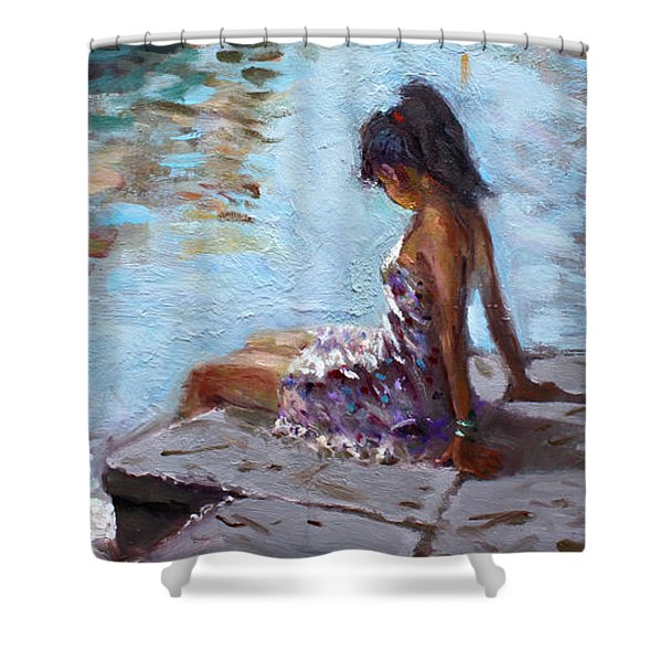 Venice Reflections Shower Curtain by Ylli Haruni
