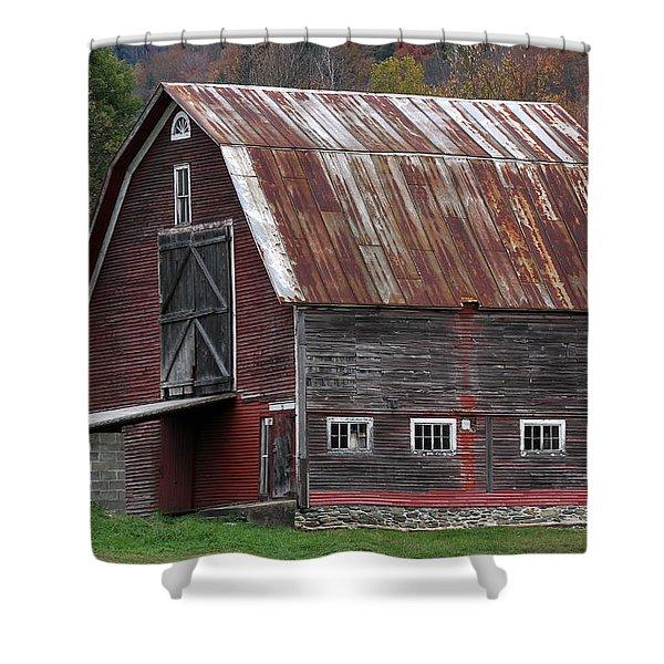 Vermont Barn Art Shower Curtain by Juergen Roth