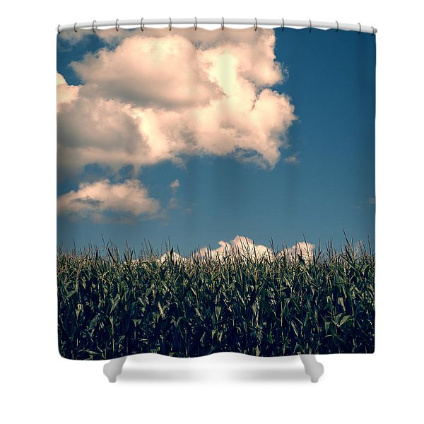 Vermont Cornfield Shower Curtain by Edward Fielding