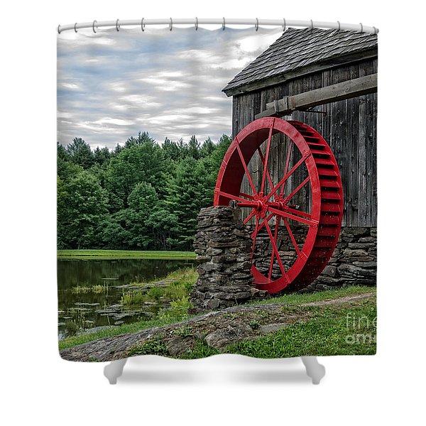 Vermont Grist Mill Shower Curtain by Edward Fielding