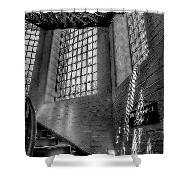 Victorian Jail Staircase V2 Shower Curtain by Adrian Evans