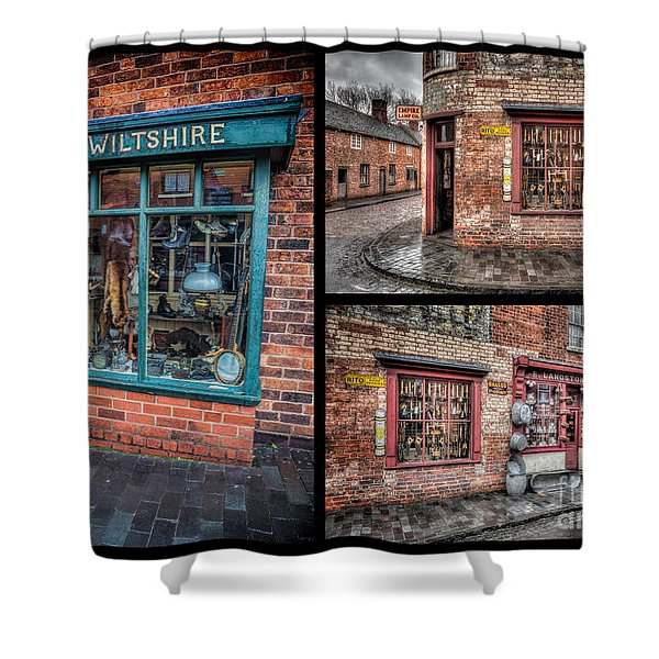 Victorian Shops Shower Curtain by Adrian Evans