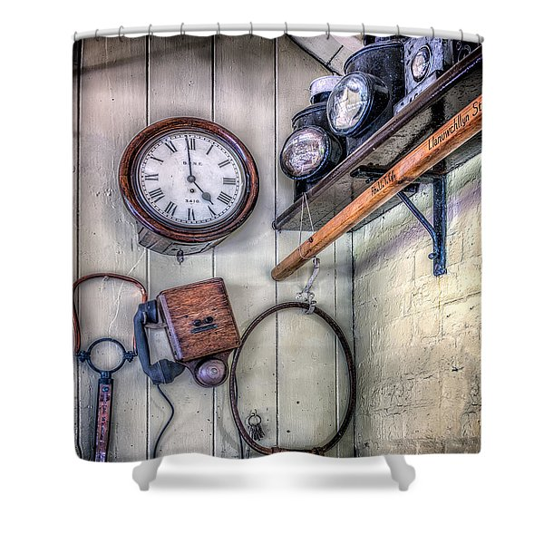 Victorian Train Memorabilia Shower Curtain by Adrian Evans