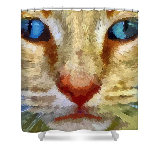 Vincent Shower Curtain by Michelle Calkins