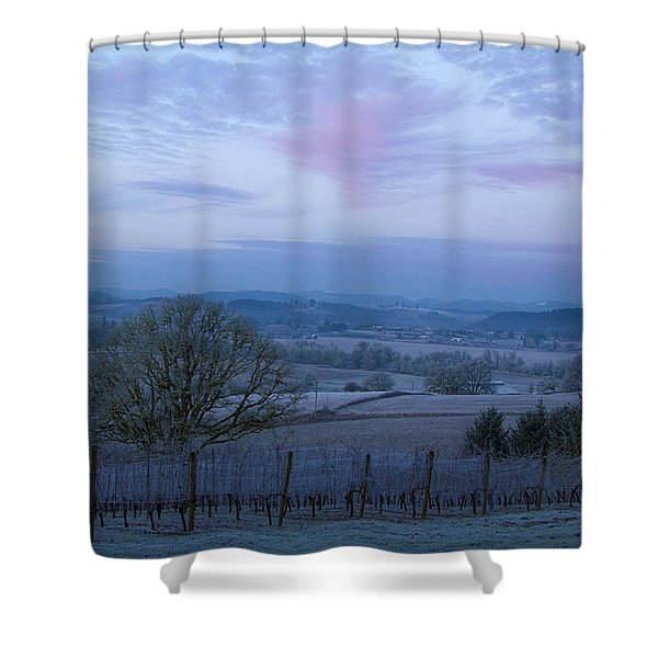 Vineyard morning light Shower Curtain by Jean Noren