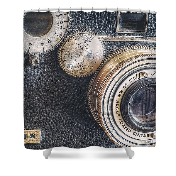 Vintage Argus C3 35mm Film Camera Shower Curtain by Scott Norris