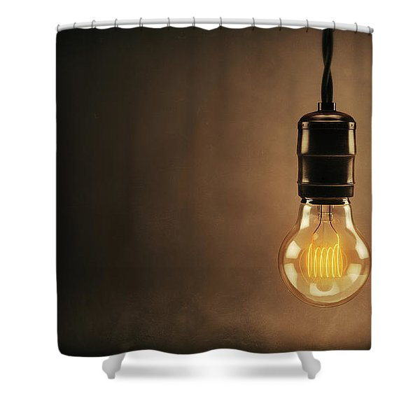 Vintage Bright Idea Shower Curtain by Scott Norris