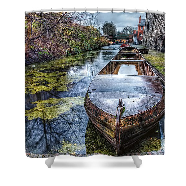 Vintage Canal Boat Shower Curtain by Adrian Evans