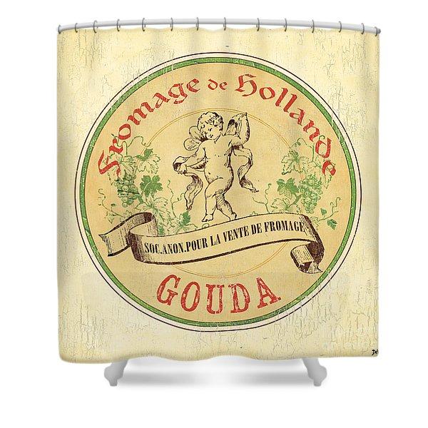 Vintage Cheese Label 2 Shower Curtain by Debbie DeWitt
