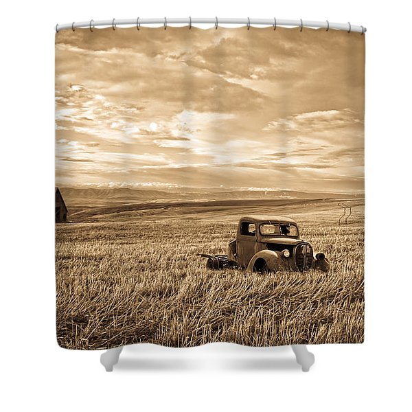 Vintage Days Gone By Shower Curtain by Steve McKinzie