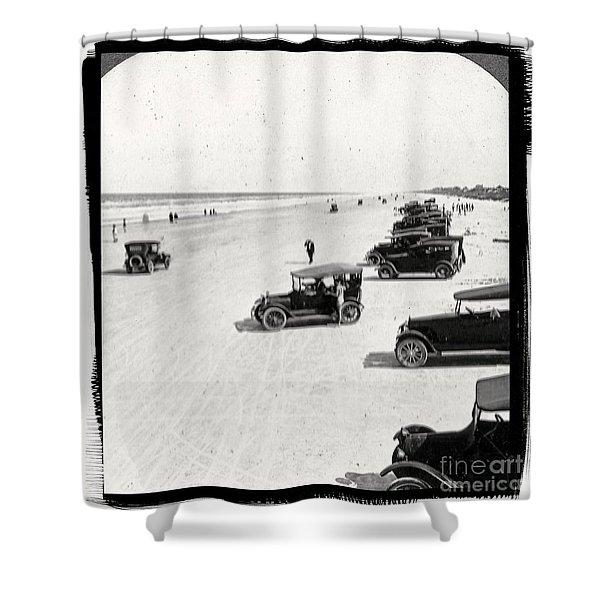 Vintage Daytona Beach Florida Shower Curtain by unknown