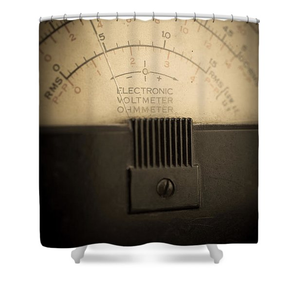 Vintage Electric Meter Shower Curtain by Edward Fielding
