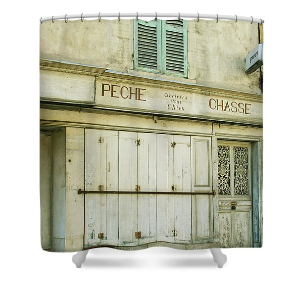 Vintage French Shops Series No.1 Shower Curtain by Nomad Art And  Design