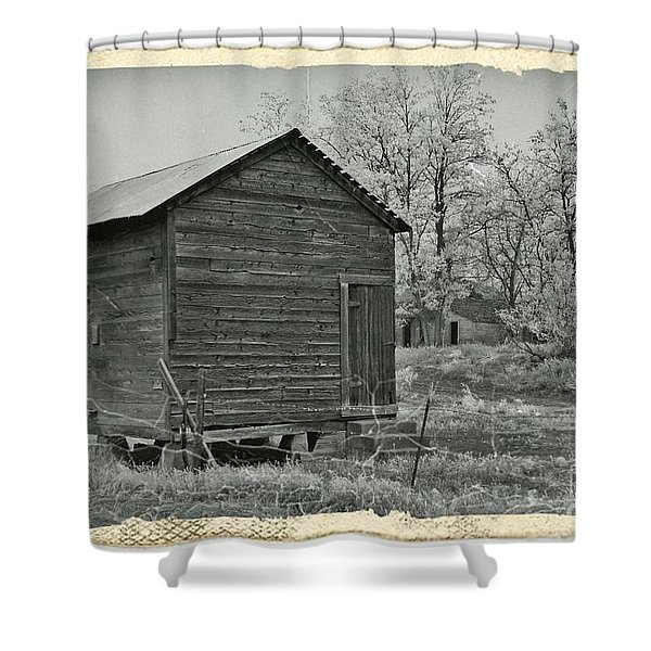 Vintage Frosty Morning 1 Shower Curtain by Chalet Roome-Rigdon