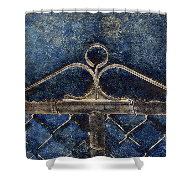 Vintage Gate - Fence - Chain Link - Texture - Abstract Shower Curtain by Andee Design