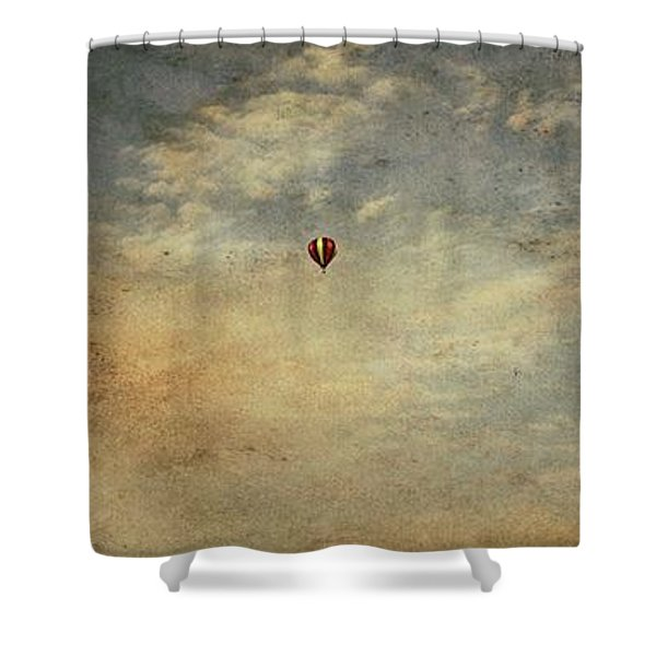 Vintage Hot Air Balloons Shower Curtain by Dan Sproul