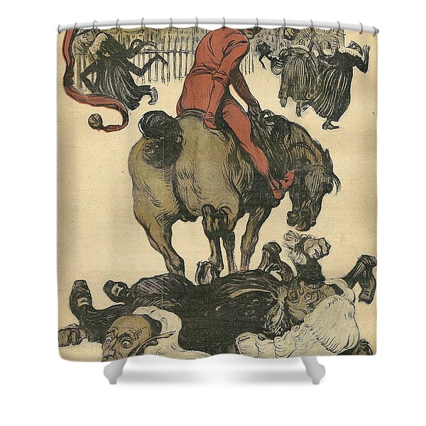 Vintage Jugend Magazine Cover Shower Curtain by Konni Jensen