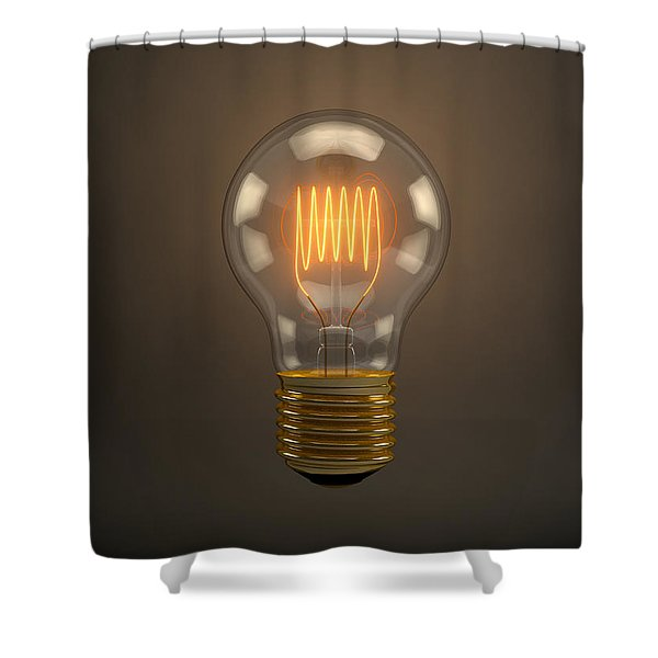 Vintage Light Bulb Shower Curtain by Scott Norris