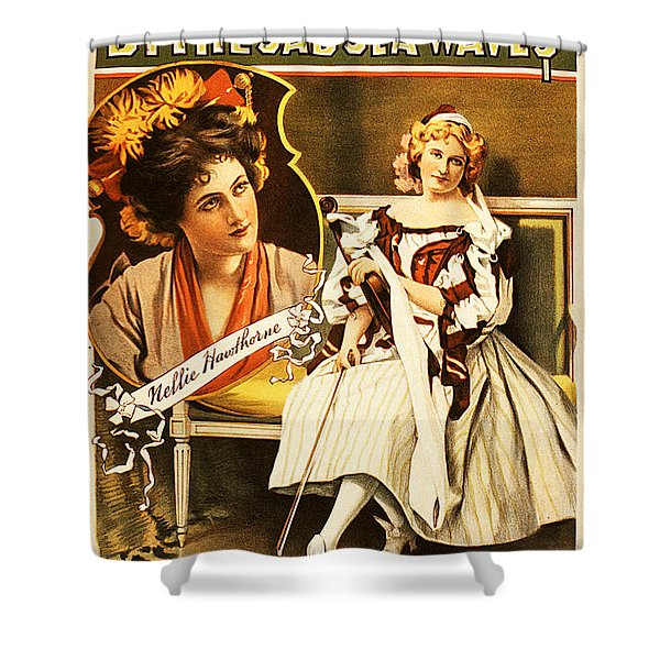 Vintage Nostalgic Poster - 8035 Shower Curtain by Wingsdomain Art and Photography