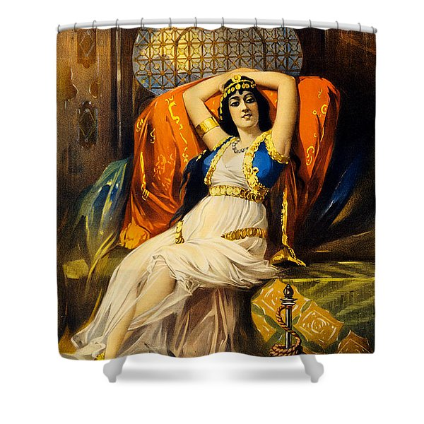 Vintage Nostalgic Poster - 8037 Shower Curtain by Wingsdomain Art and Photography