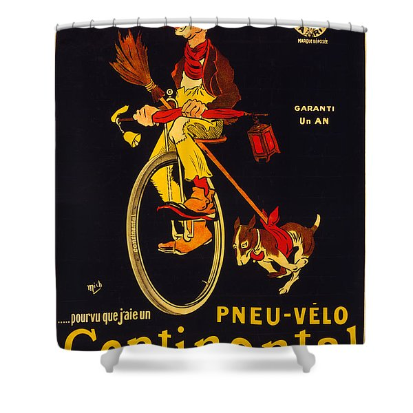 Vintage Nostalgic Poster - 8048 Shower Curtain by Wingsdomain Art and Photography