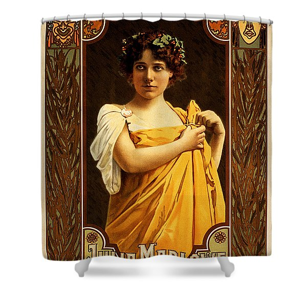 Vintage Nostalgic Poster - 8058 Shower Curtain by Wingsdomain Art and Photography