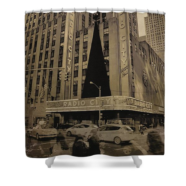 Vintage Radio City Music Hall Shower Curtain by Dan Sproul