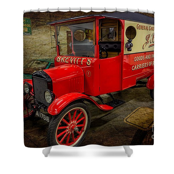 Vintage Van Shower Curtain by Adrian Evans