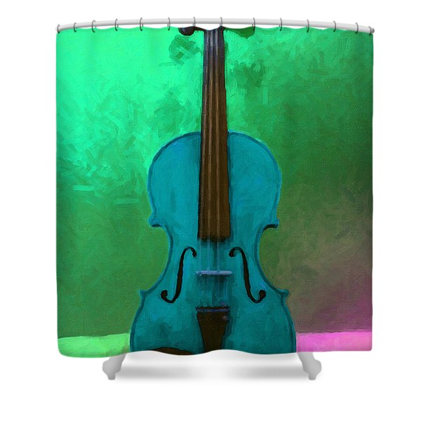 Violin - 20130111 V2 Shower Curtain by Wingsdomain Art and Photography
