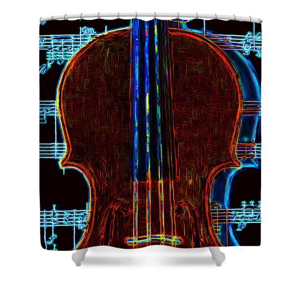 Violin - 20130128v1 Shower Curtain by Wingsdomain Art and Photography