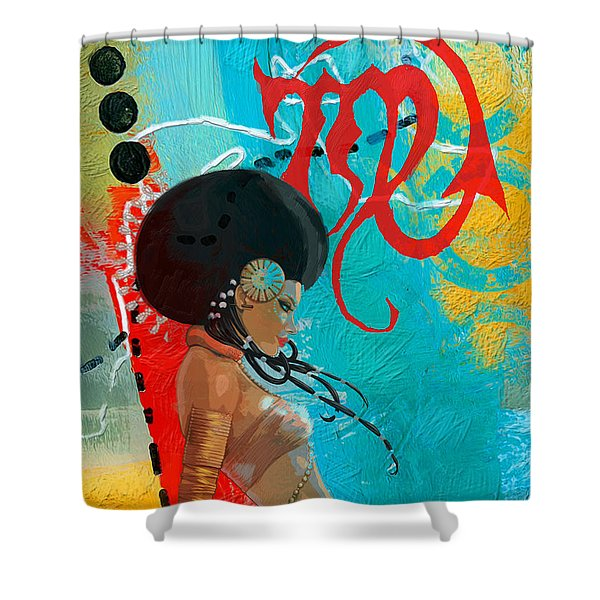 Virgo Shower Curtain by Corporate Art Task Force