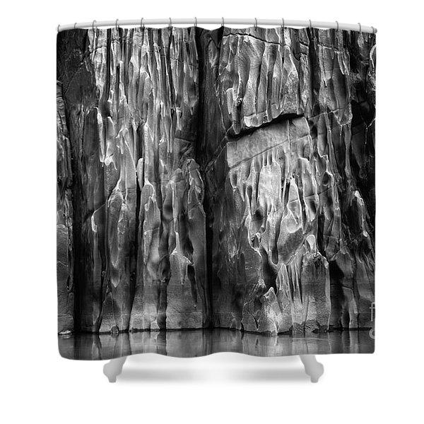 Vishnu Schist Shower Curtain by Inge Johnsson