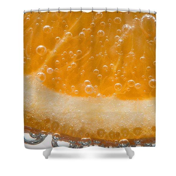 Vitamin C Shower Curtain by Susan Candelario