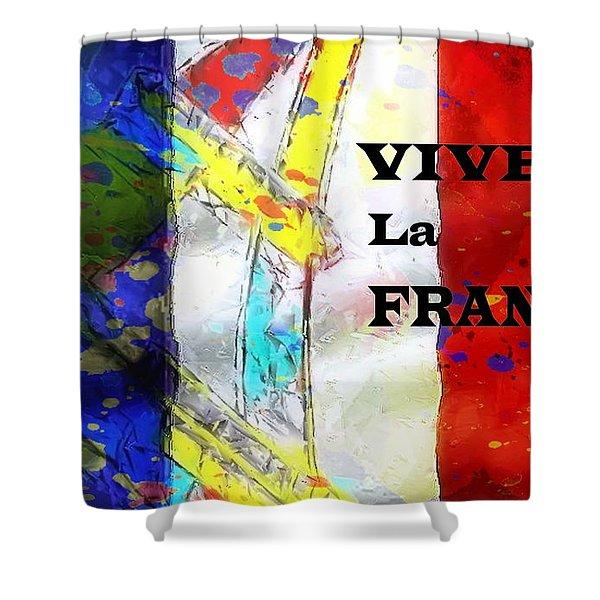Vive La France Shower Curtain by Brian Raggatt