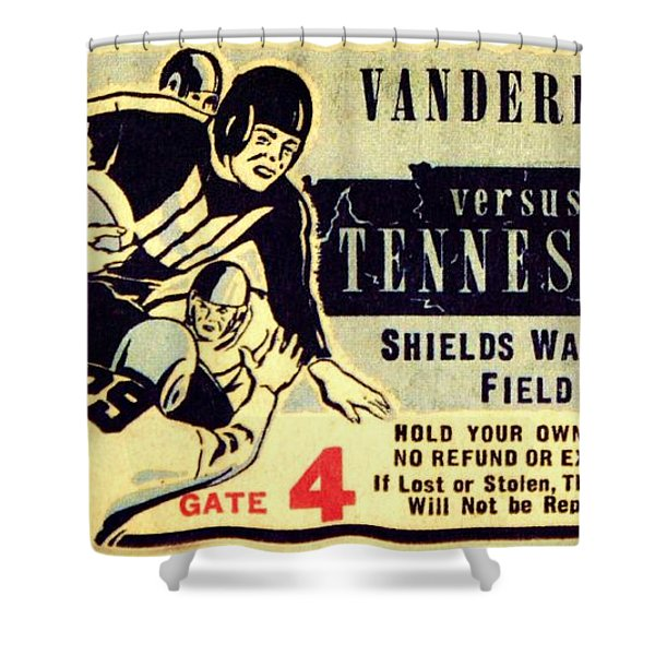 Volunteer State Rivalry Shower Curtain by Benjamin Yeager