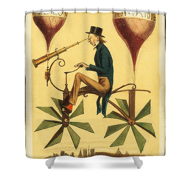 Voyage A La Lune Shower Curtain by Digital Reproductions