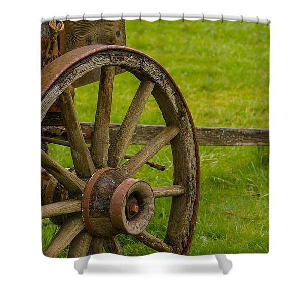Wagons West Shower Curtain by Roger Reeves  and Terrie Heslop