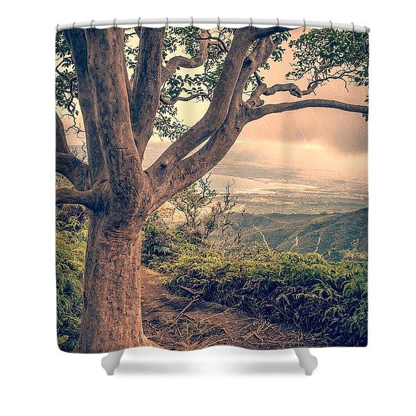 Waihee Ridge Trail Maui Hawaii Shower Curtain by Edward Fielding